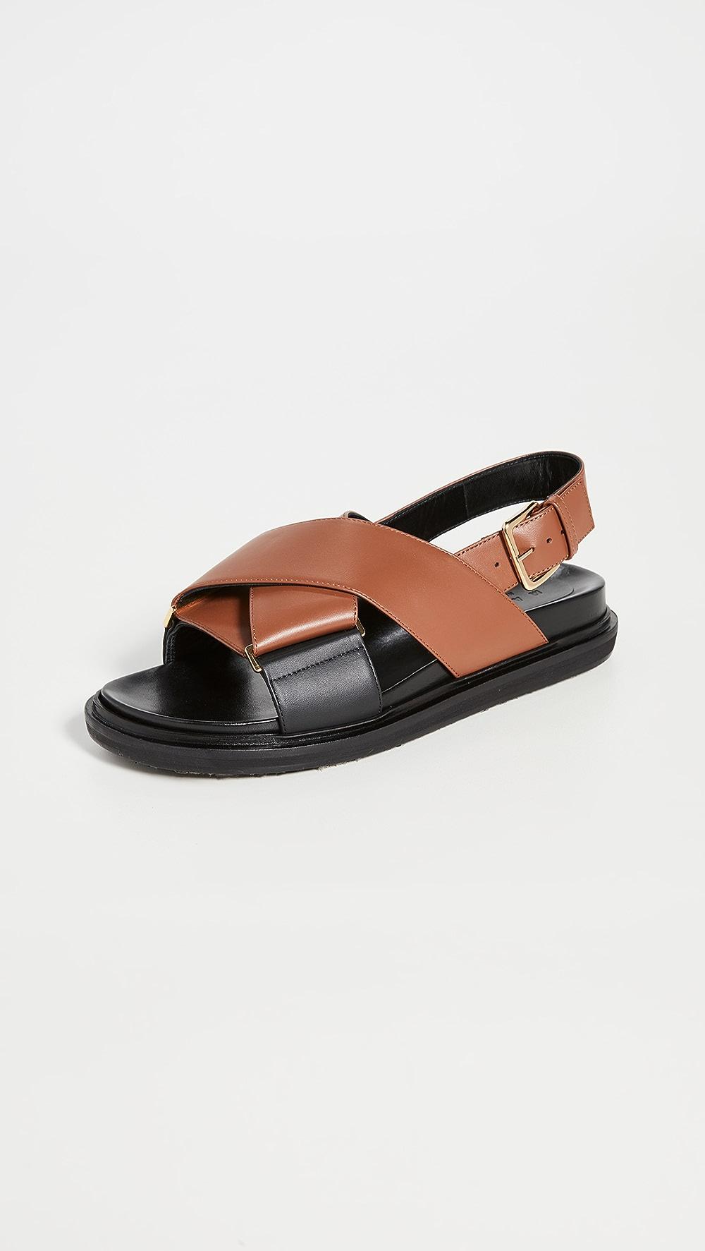 Supply Marni - Crisscross Fussbett Sandals Online Discount