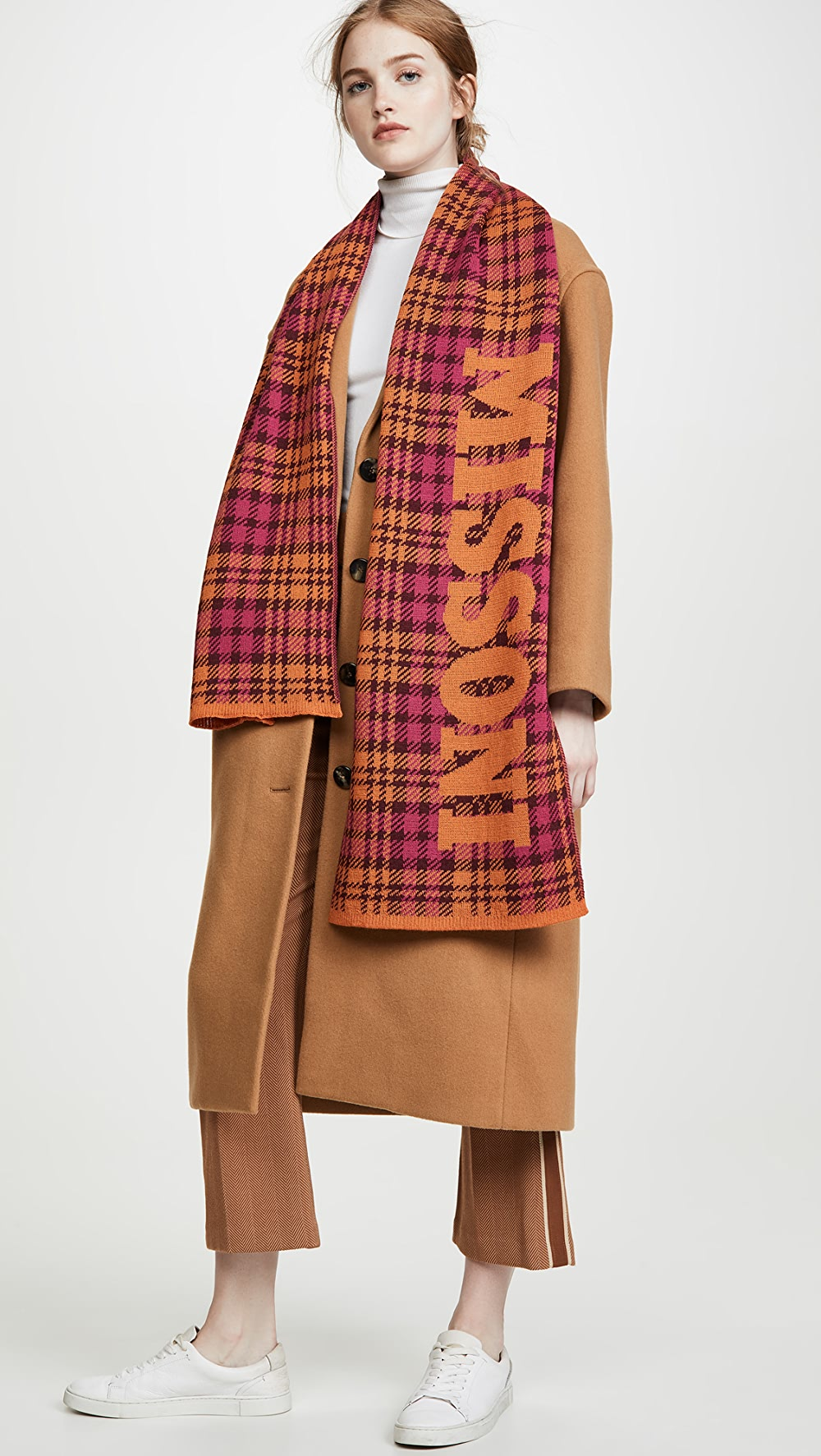 Adaptable Missoni - Plaid Scarf With Branding Sale Price
