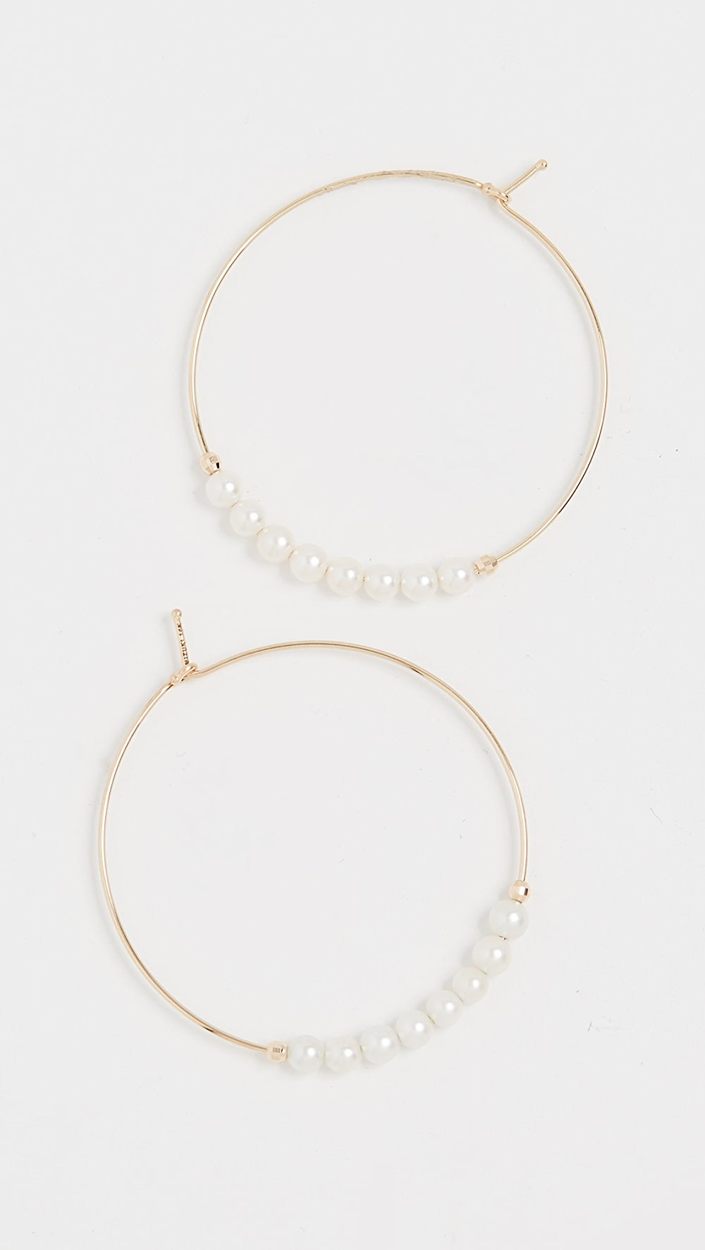 Amicable Mizuki - 14k Small Pearl Hoops Rich And Magnificent