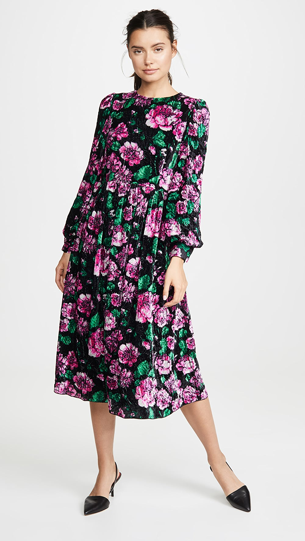 Brilliant The Marc Jacobs - Blouson Sleeve Flare Dress Spare No Cost At Any Cost
