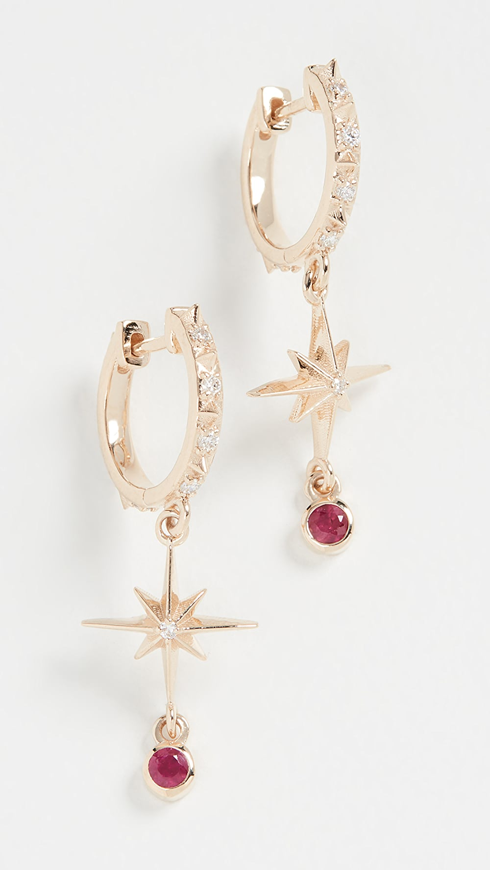 Bright Marlo Laz - 14k Lucky Star Hoop Earrings Goods Of Every Description Are Available