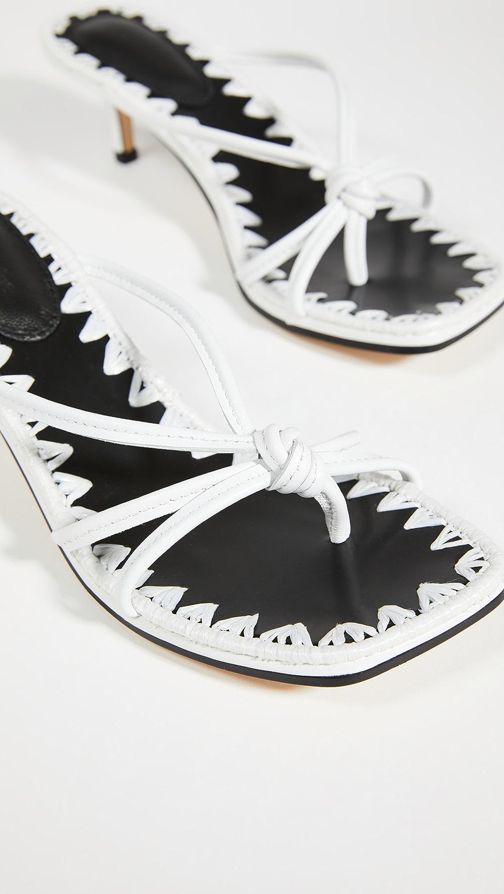 Hospitable Mara & Mine - Azeline Kitten Heel Sandals Sufficient Supply