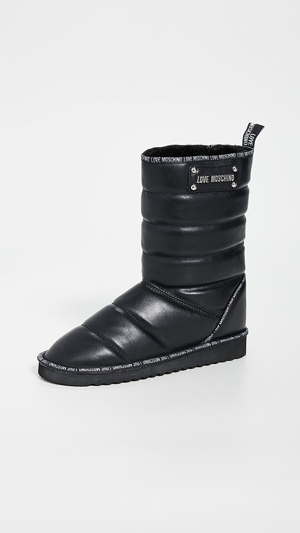 Romantic Moschino - Quilted Boots Latest Technology