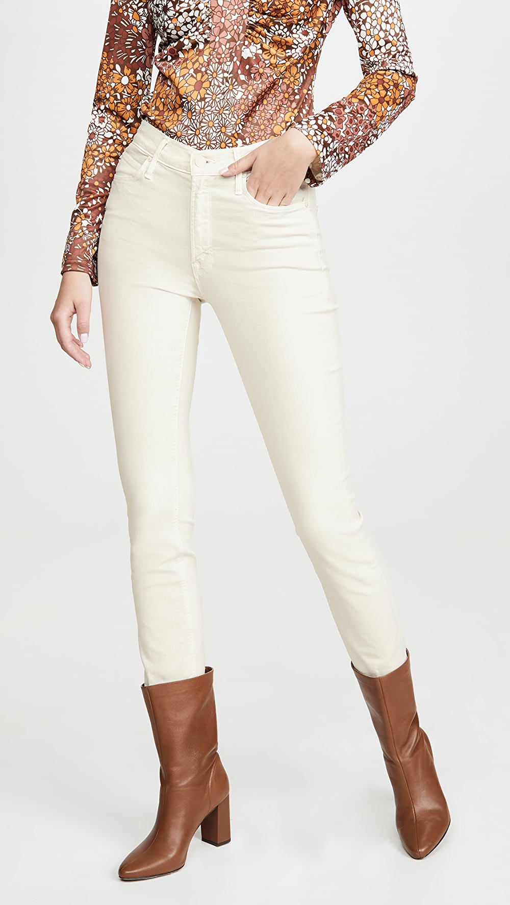 Humble Mother - The Mid Rise Dazzler Ankle Jeans Delaying Senility