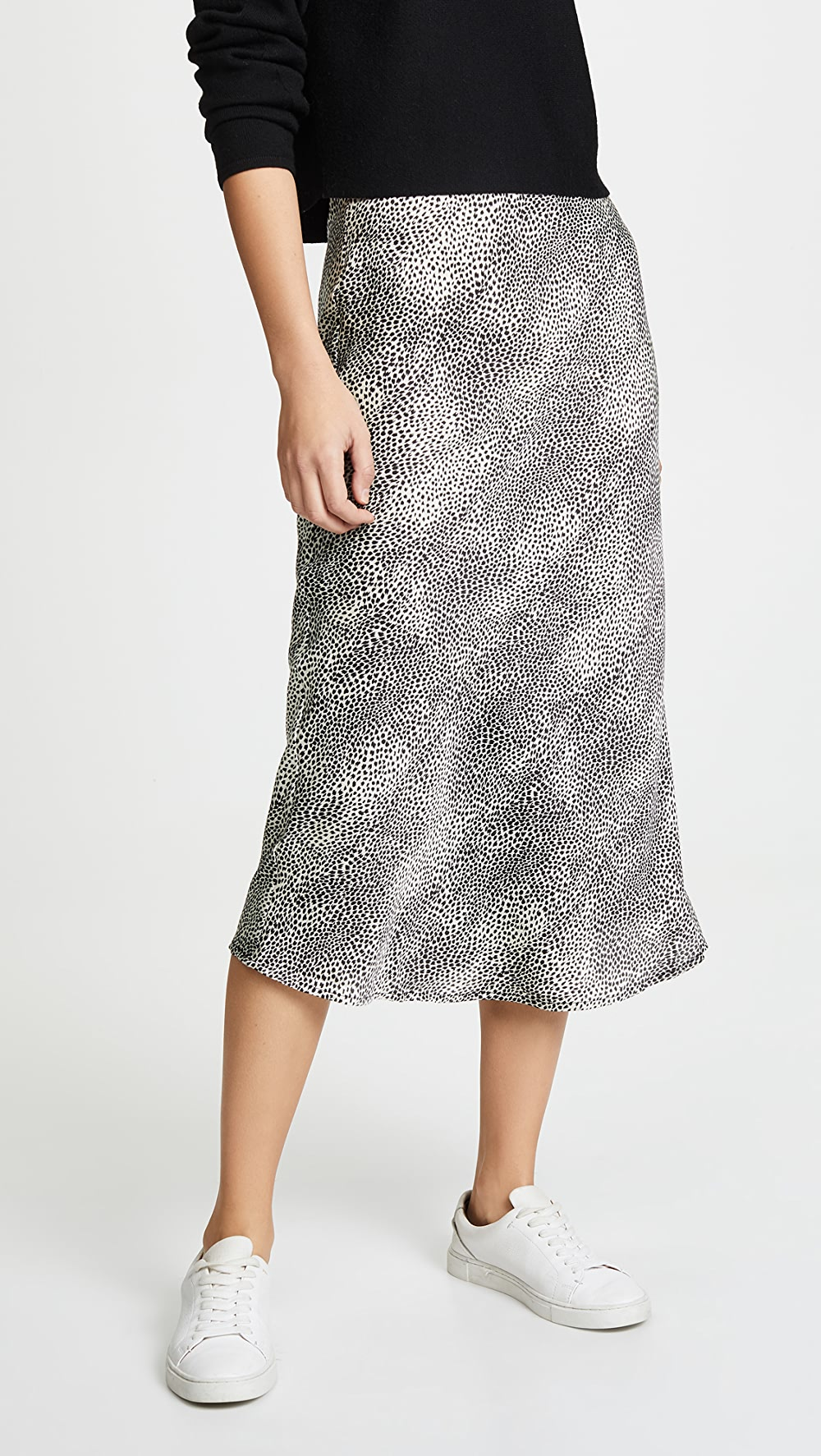 Aspiring Re:named - Leopard Midi Skirt Rapid Heat Dissipation
