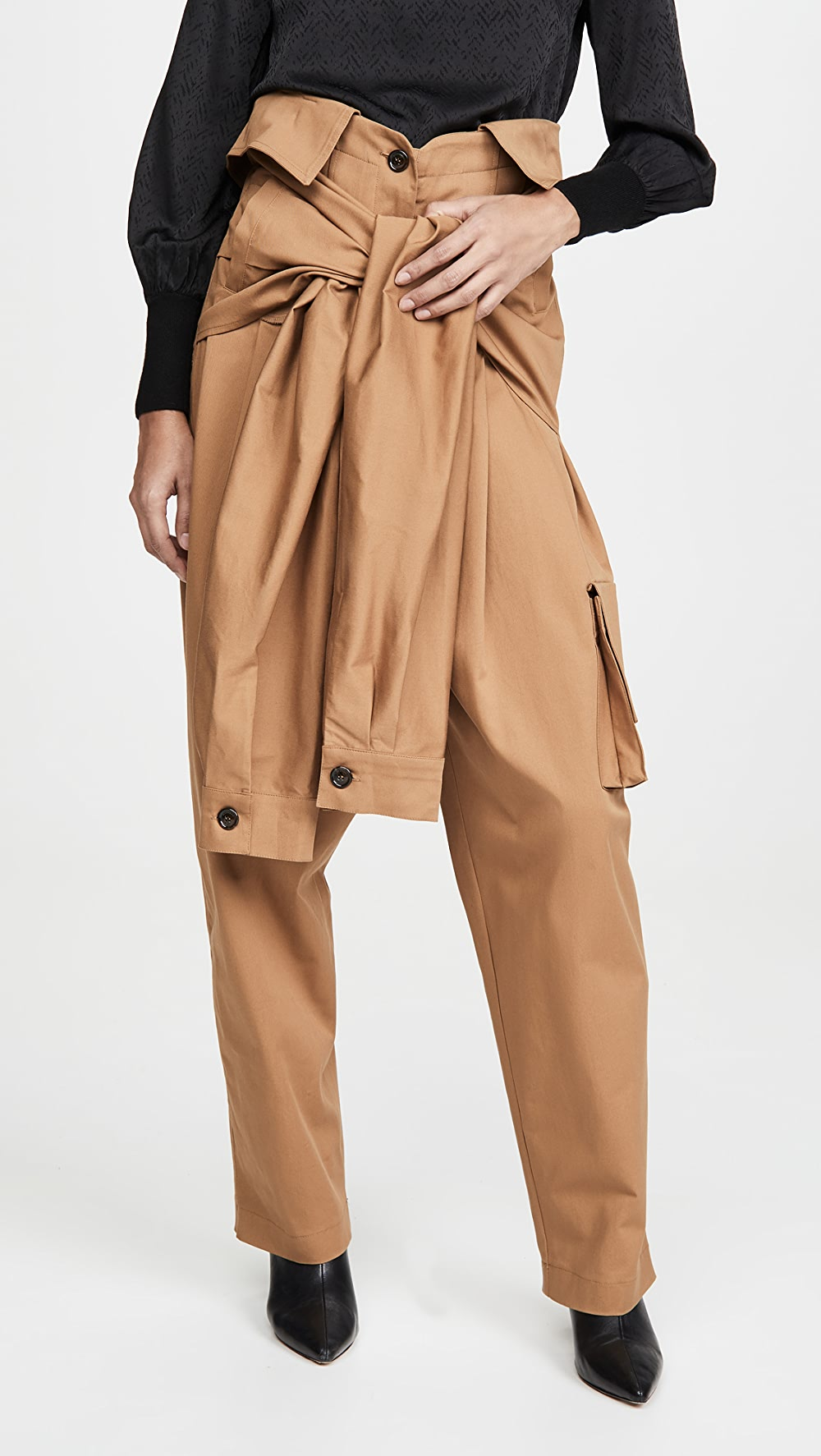 Well-Educated Natasha Zinko - Cargo Tied Sleeves Collar Waist Trousers A Complete Range Of Specifications