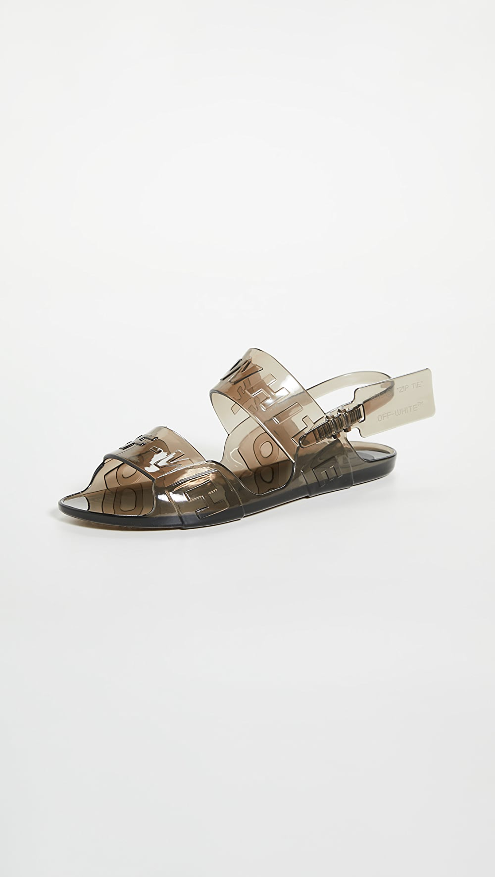 Self-Conscious Off-white - Zip Tie Jelly Sandals Quell Summer Thirst