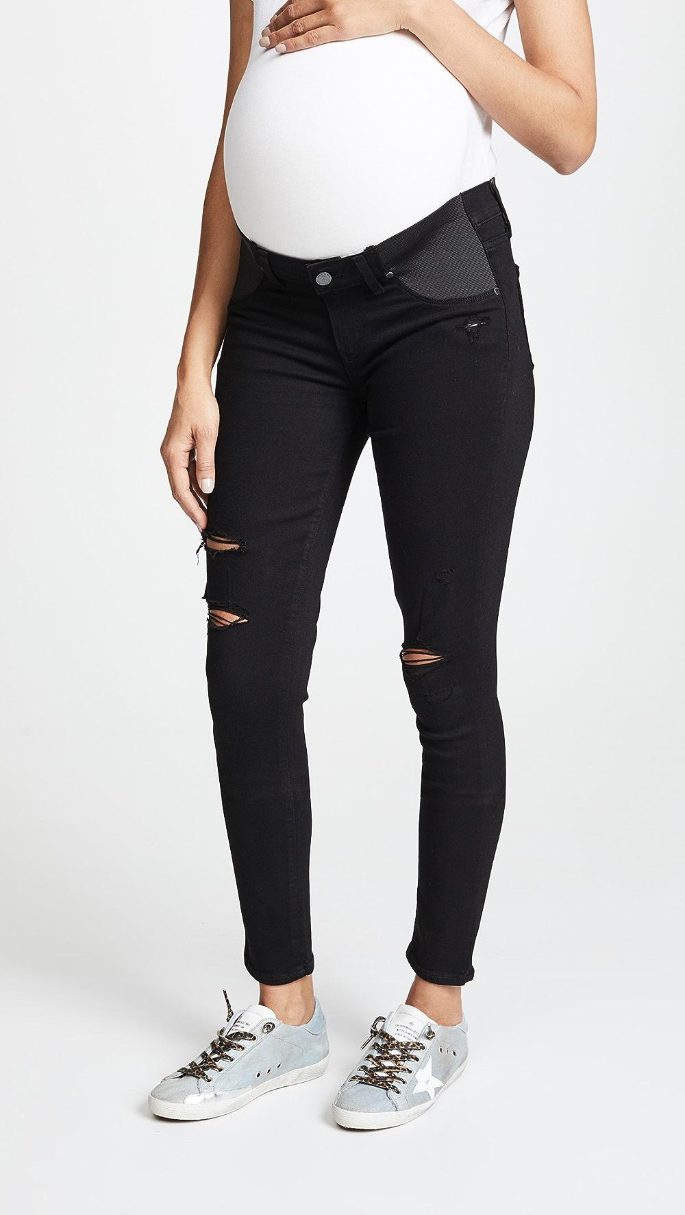 Fashion Style Paige - Maternity Verdugo Ultra Skinny Jeans Harmonious Colors