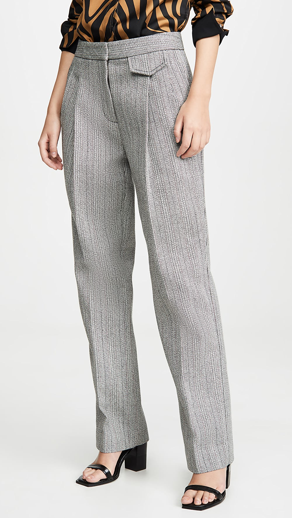 2019 Fashion 3.1 Phillip Lim - Full Length Tweed Pants Ideal Gift For All Occasions