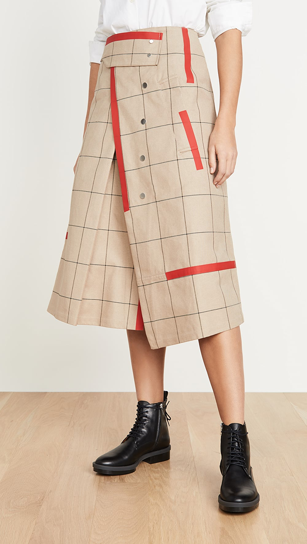 Aggressive 3.1 Phillip Lim - Window Pane Trench Skirt Products Hot Sale