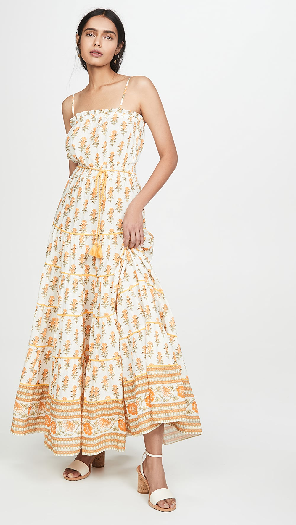 Steady Playa Lucila - Sleeveless Floral Maxi Dress Fixing Prices According To Quality Of Products