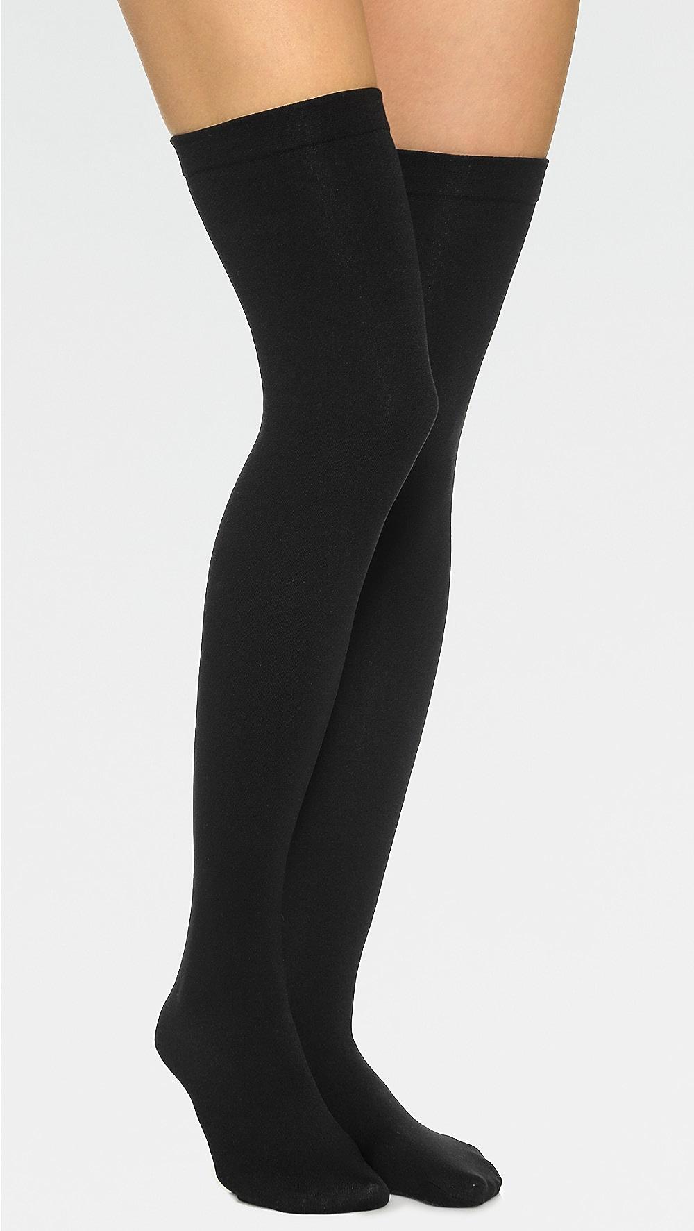 Hard-Working Plush - Fleece Lined Thigh High Socks Reasonable Price