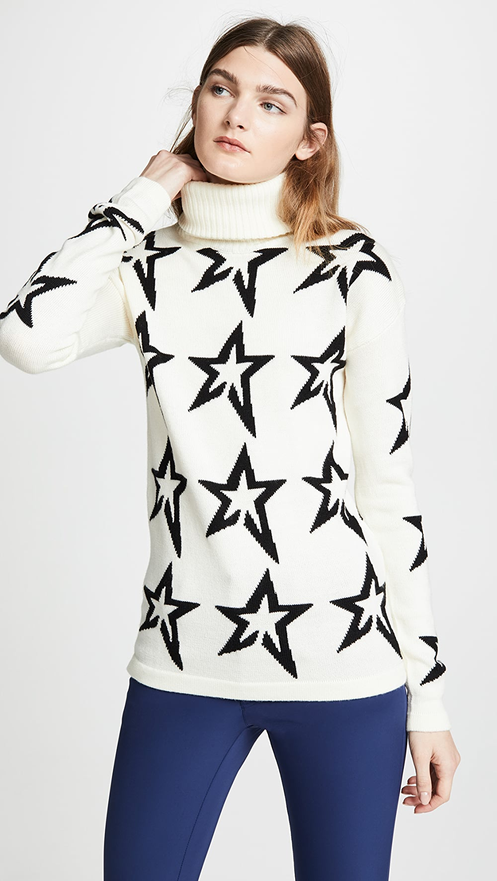 Considerate Perfect Moment - Star Dust Wool Sweater Preventing Hairs From Graying And Helpful To Retain Complexion