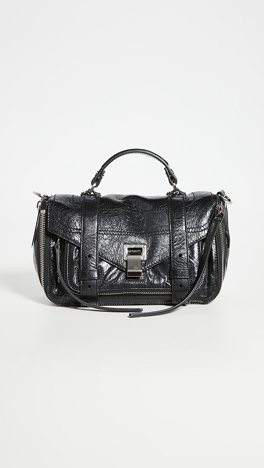 100% True Proenza Schouler - Ps1 Tiny Zip Satchel Numerous In Variety