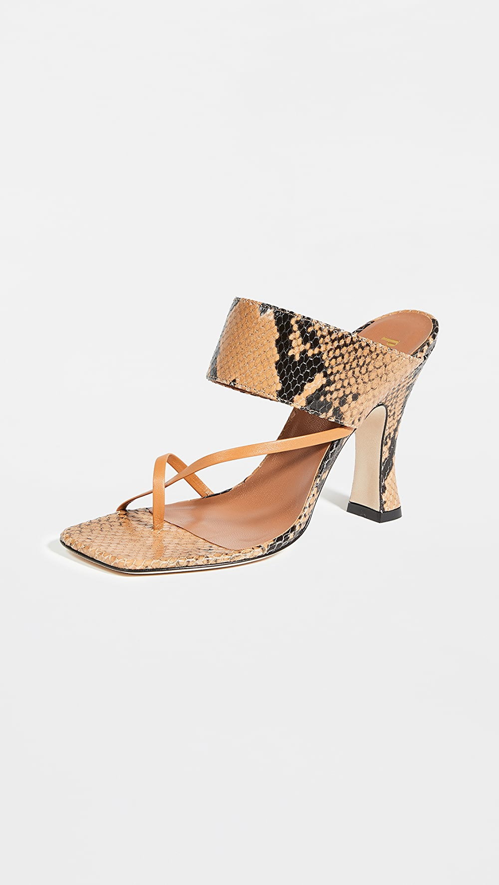 Adroit Paris Texas - Python Print Crossover Thong Sandals Refreshing And Enriching The Saliva