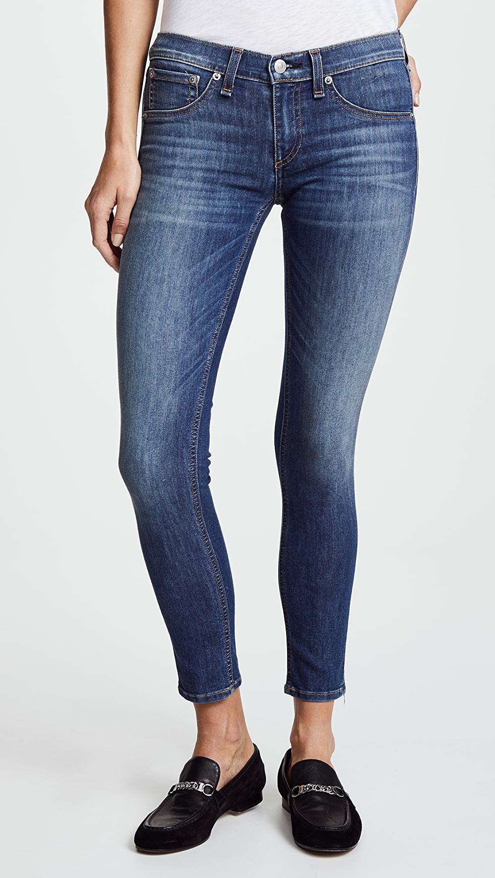 Liberal Rag & Bone/jean - The Capri Jeans Vivid And Great In Style
