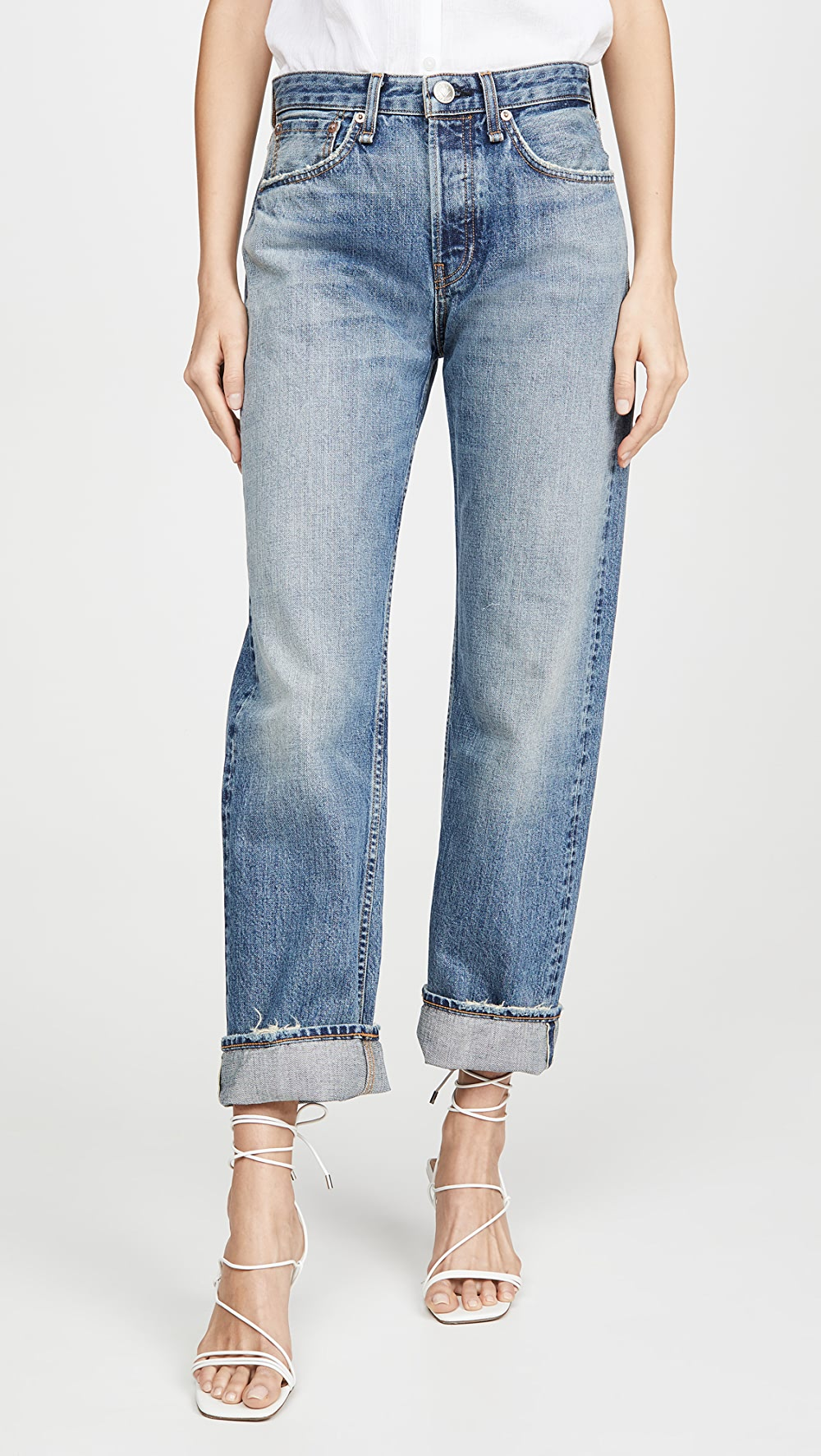 2019 Fashion Rag & Bone/jean - Maya High Rise Ankle Straight Jeans Clear And Distinctive