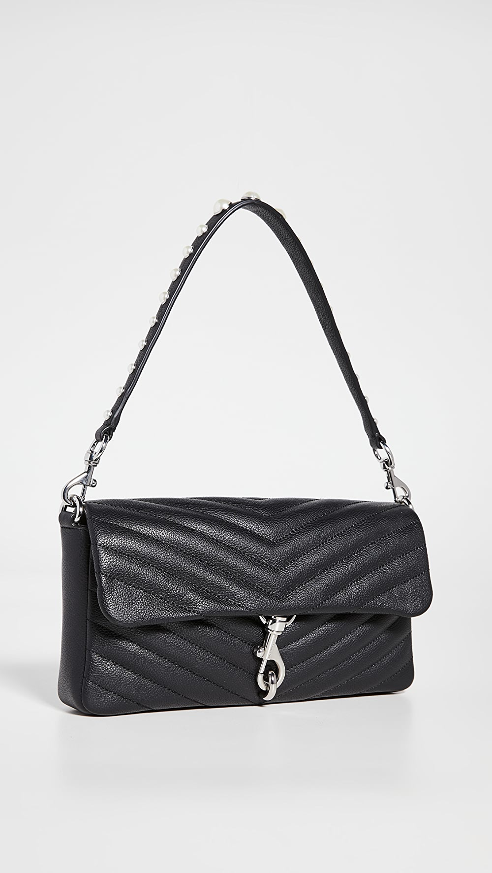 Careful Rebecca Minkoff - Edie Clutch With Pearl Strap Can Be Repeatedly Remolded.