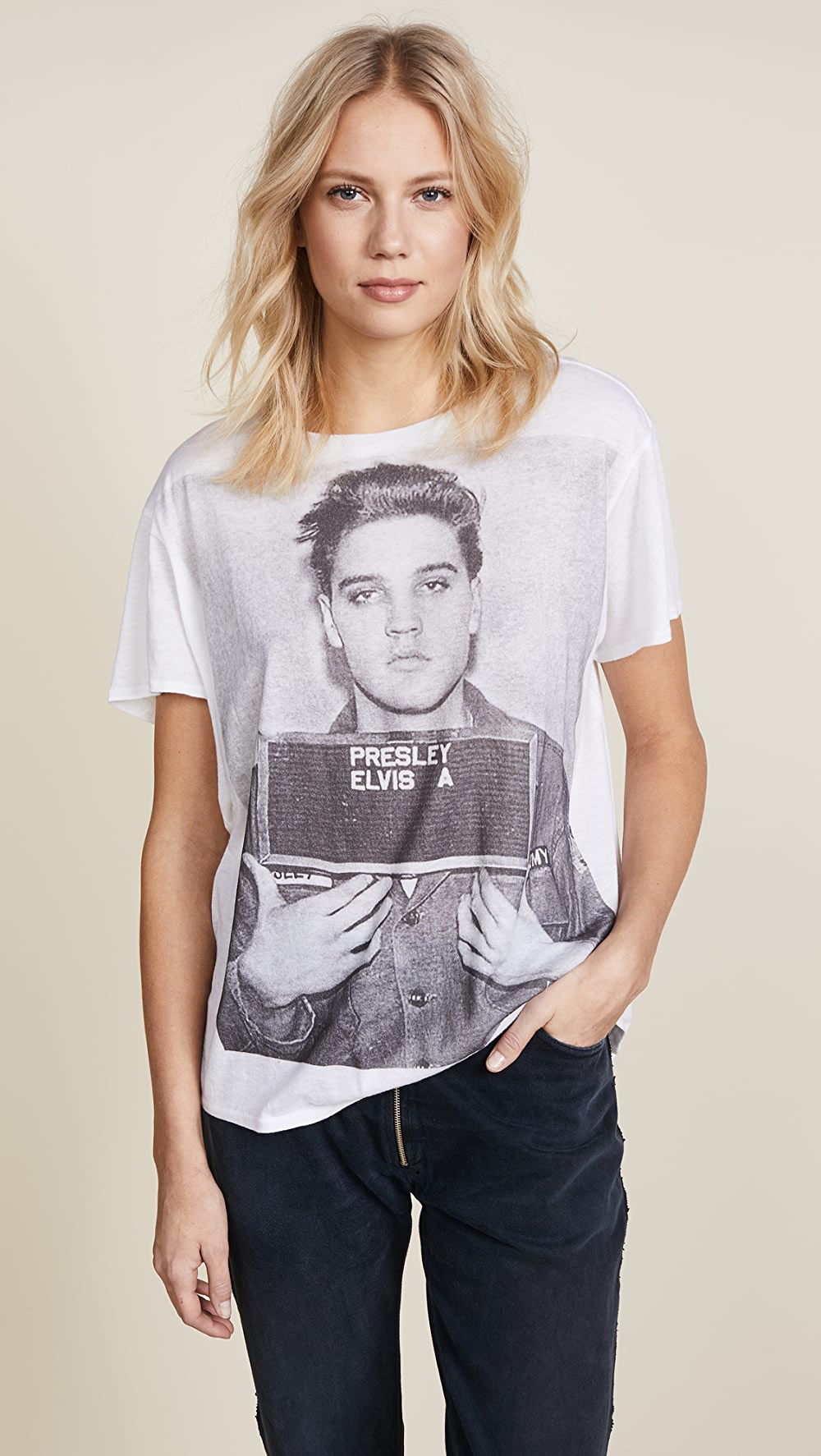 100% True R13 - Elvis Mugshot Boy Tee An Enriches And Nutrient For The Liver And Kidney