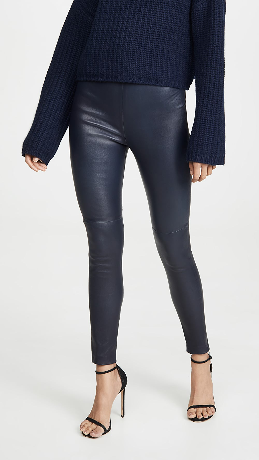Diligent Sablyn - High Waisted Leather Pants Attractive And Durable