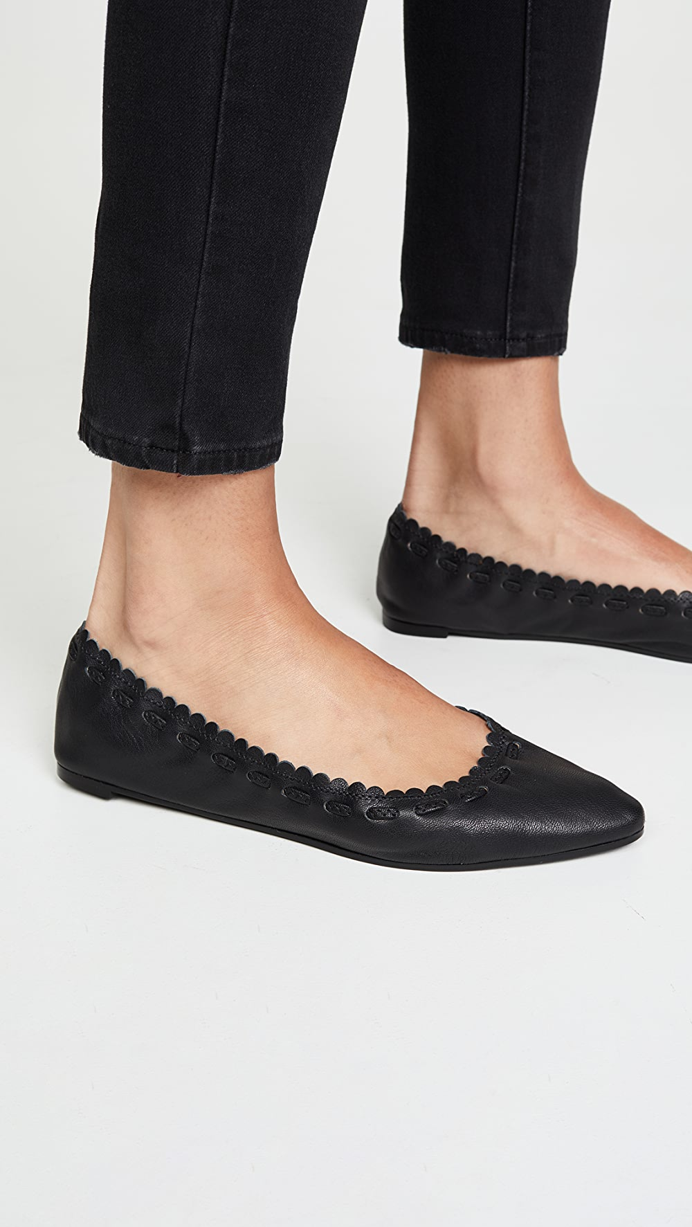 Energetic See By Chloe - Jane Point Ballet Flats Discounts Sale