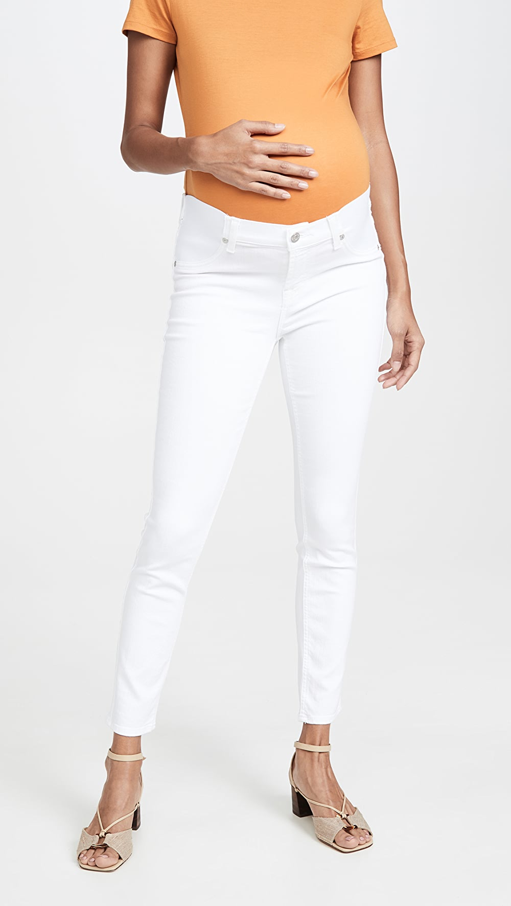 Frank 7 For All Mankind - The Ankle Skinny Maternity Jeans 100% Original