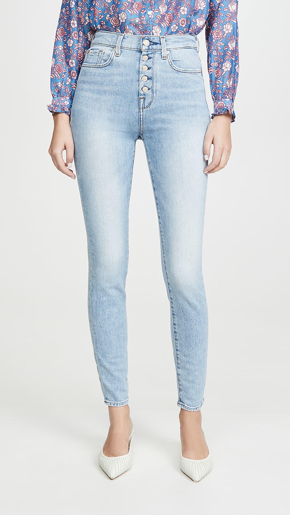 Alert 7 For All Mankind - High Rise Skinny Jeans Attractive Fashion