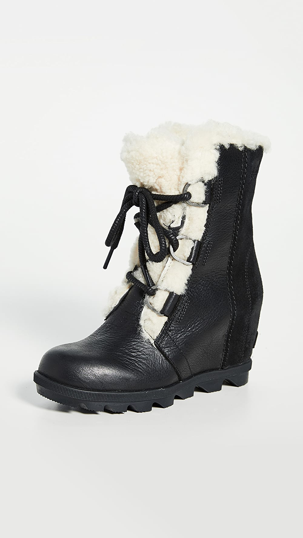 Beautiful Sorel - Joan Wedge Shearling Boots Can Be Repeatedly Remolded.