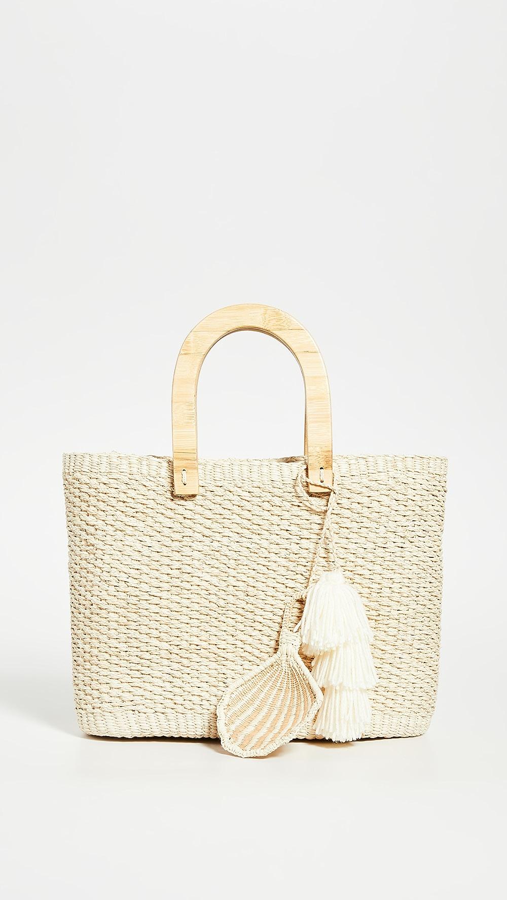 Fashion Style Sensi Studio - Canasta Wooden Handle Bag Relieving Rheumatism