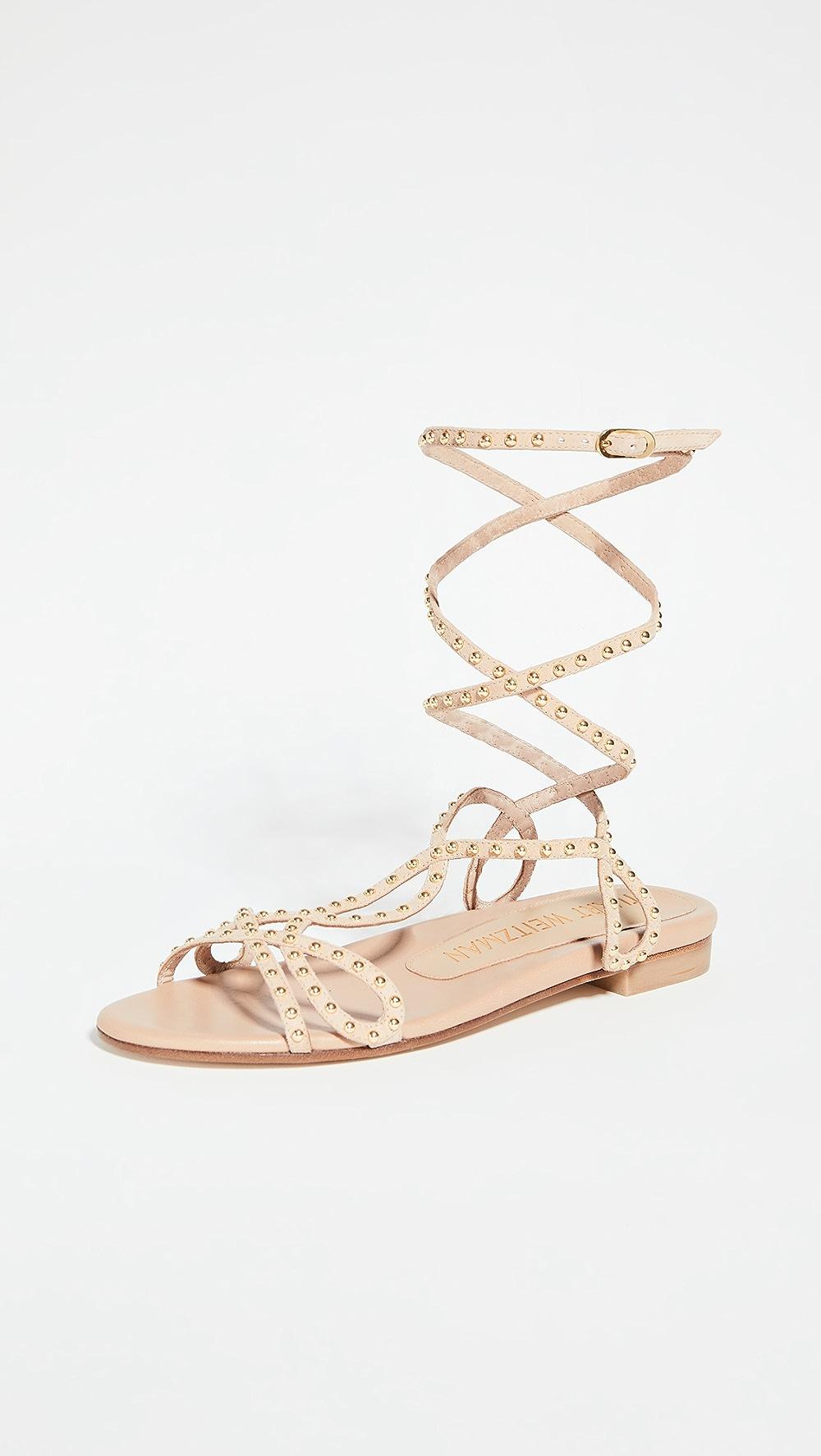 Reasonable Stuart Weitzman - Leya Bead Flat Sandals To Have A Long Historical Standing