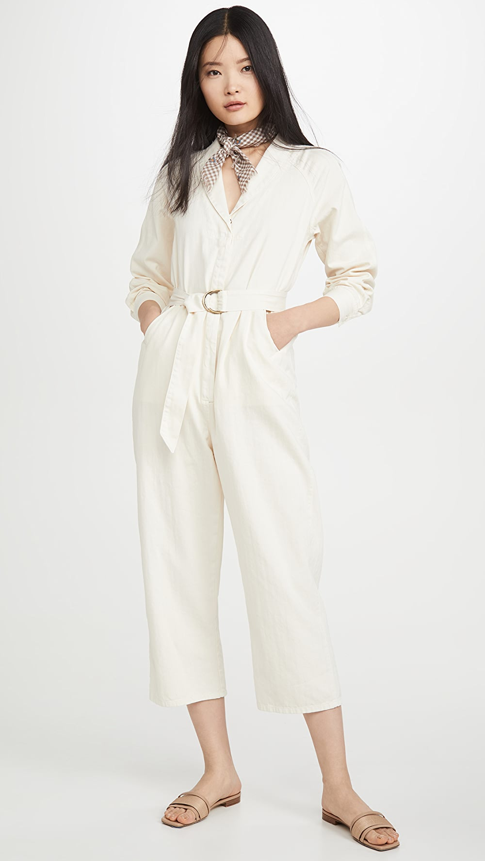 Adroit The Great. - The Herringbone Round Top Jumpsuit In Short Supply