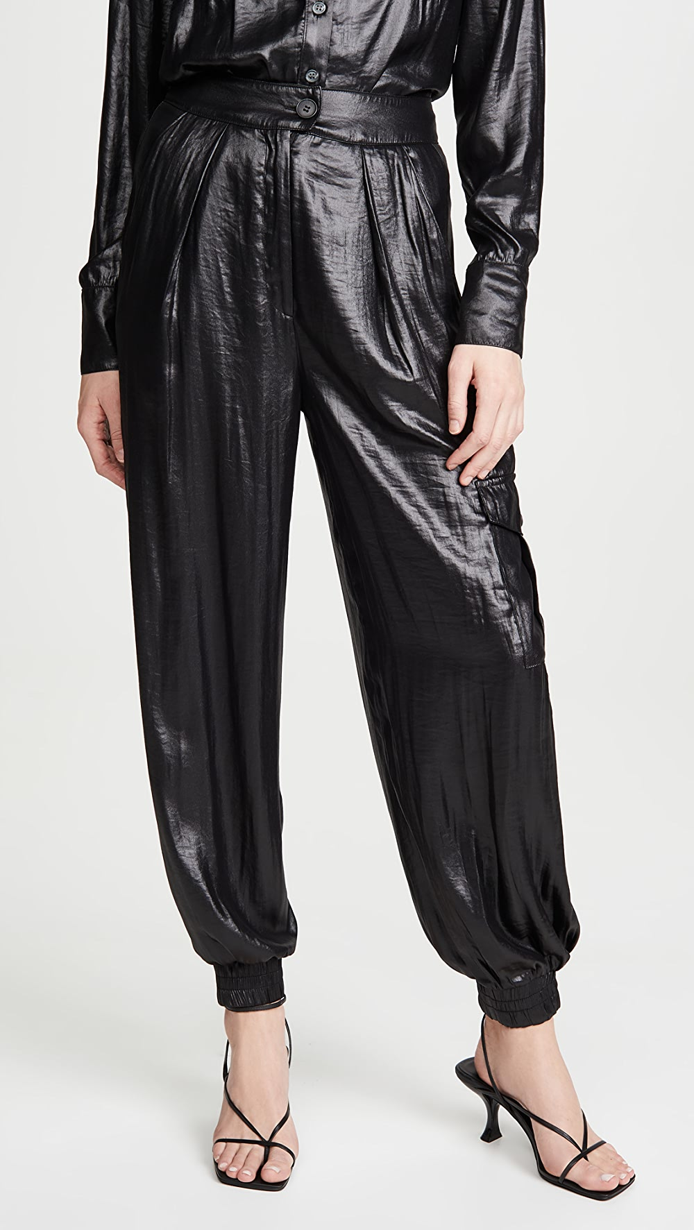 Search For Flights The Range - Lucid Satin Cargo Joggers Structural Disabilities