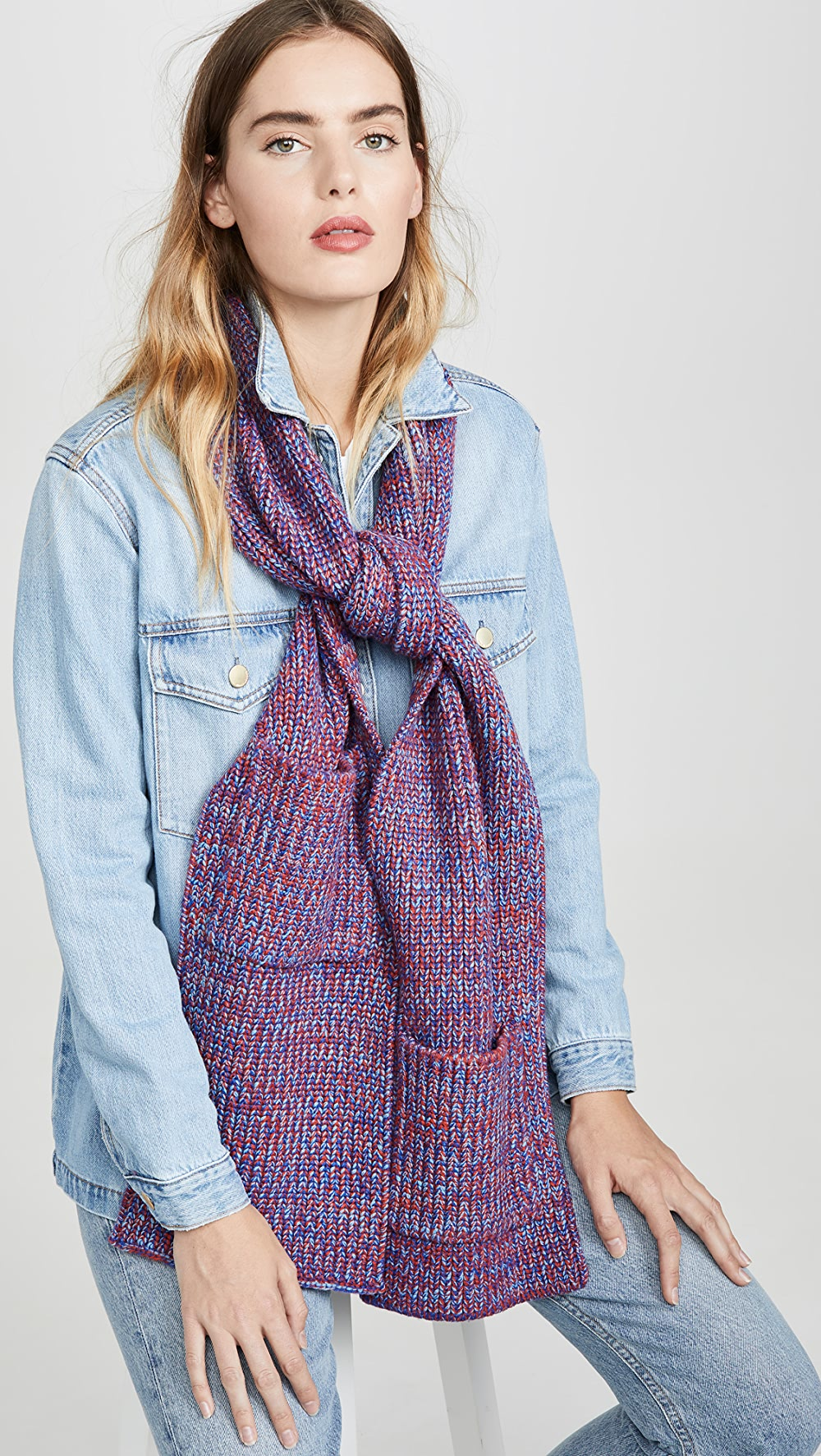 Fast Deliver Tibi - Wool Scarf Clients First