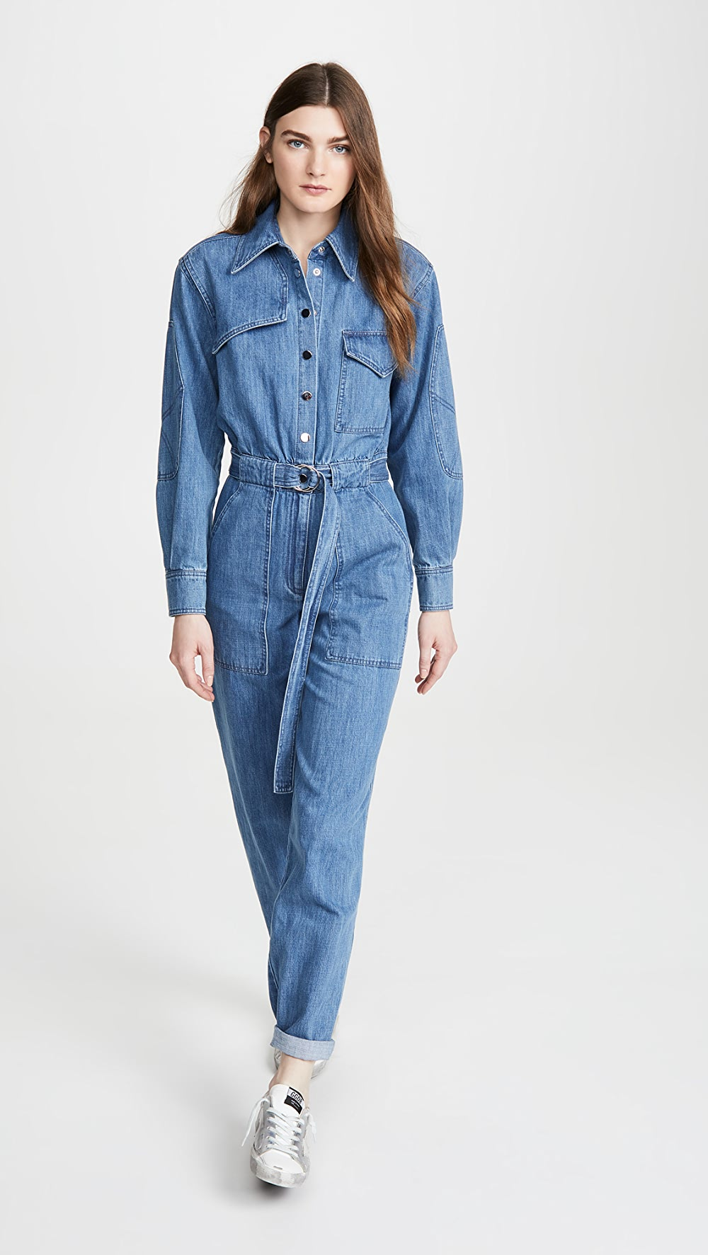 2019 New Style Tibi - Stone Enzyme Denim Jumpsuit Pleasant To The Palate