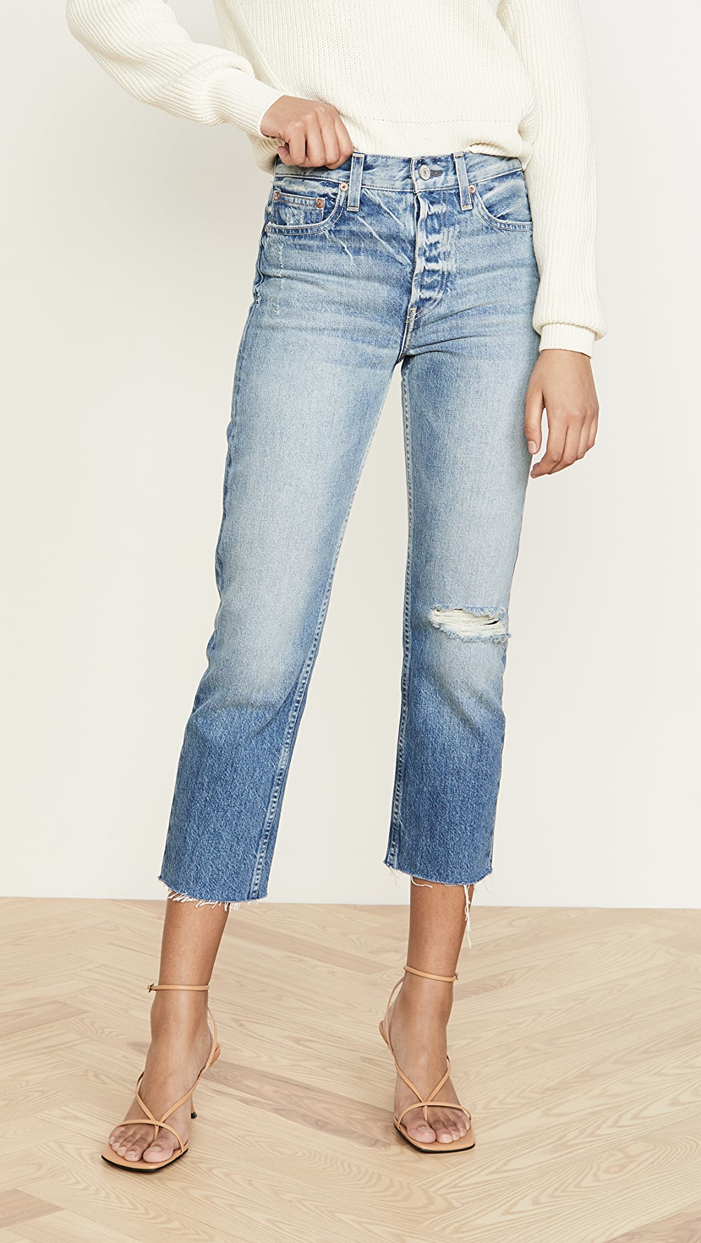 2019 Fashion Trave - Constance Cropped Straight Jeans Yet Not Vulgar