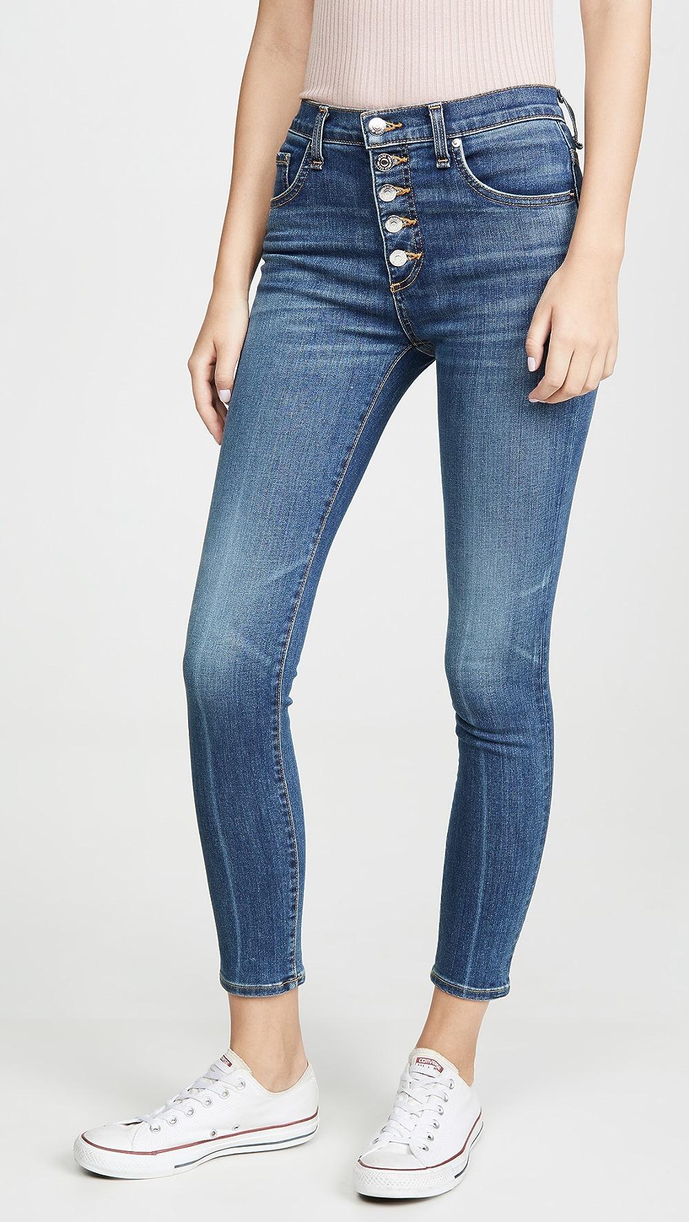 Creative Veronica Beard Jean - Debbie High Rise Skinny Long Jeans Quell Summer Thirst