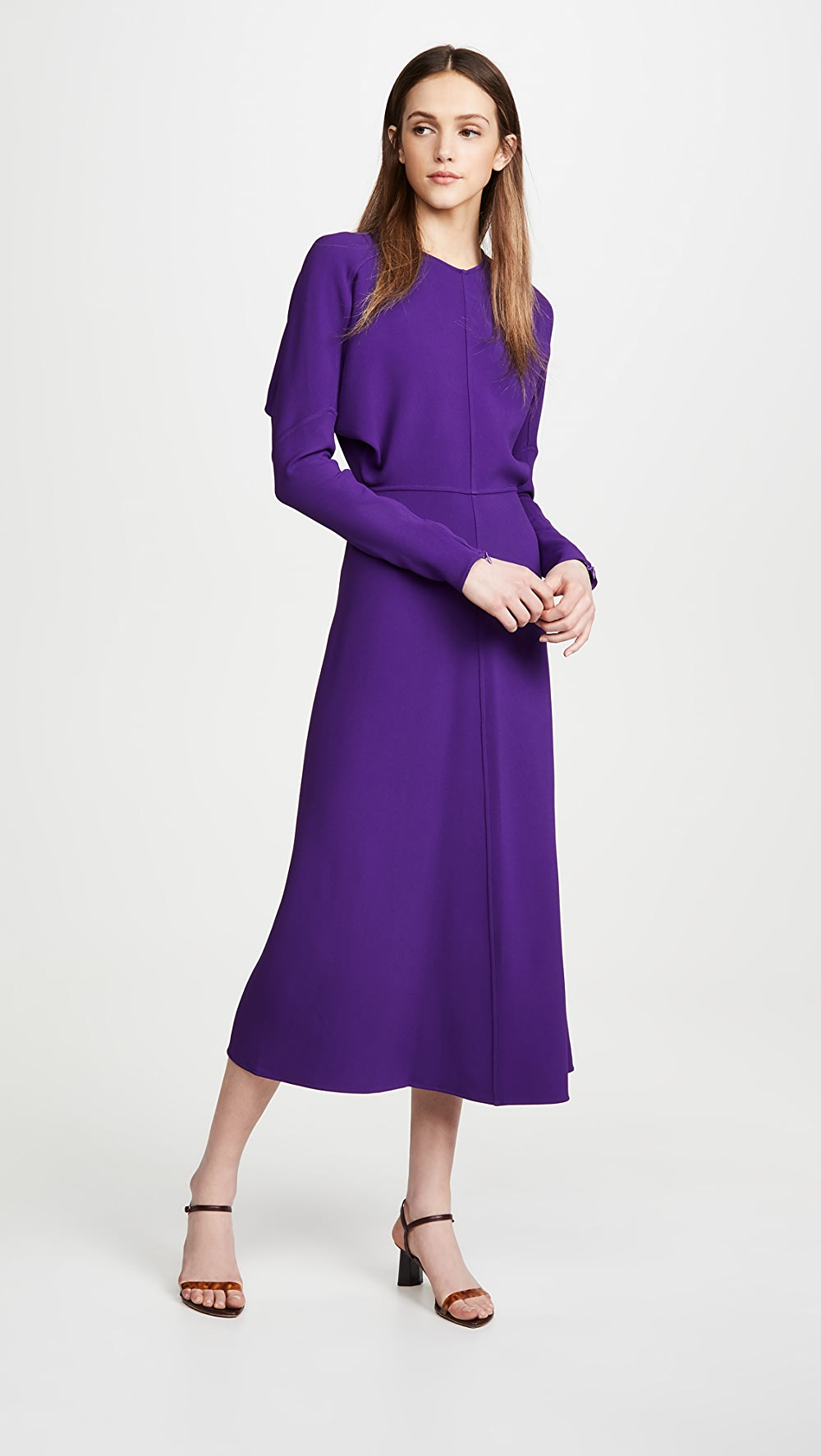 Open-Minded Victoria Beckham - Long Sleeve Dolman Midi Orders Are Welcome.