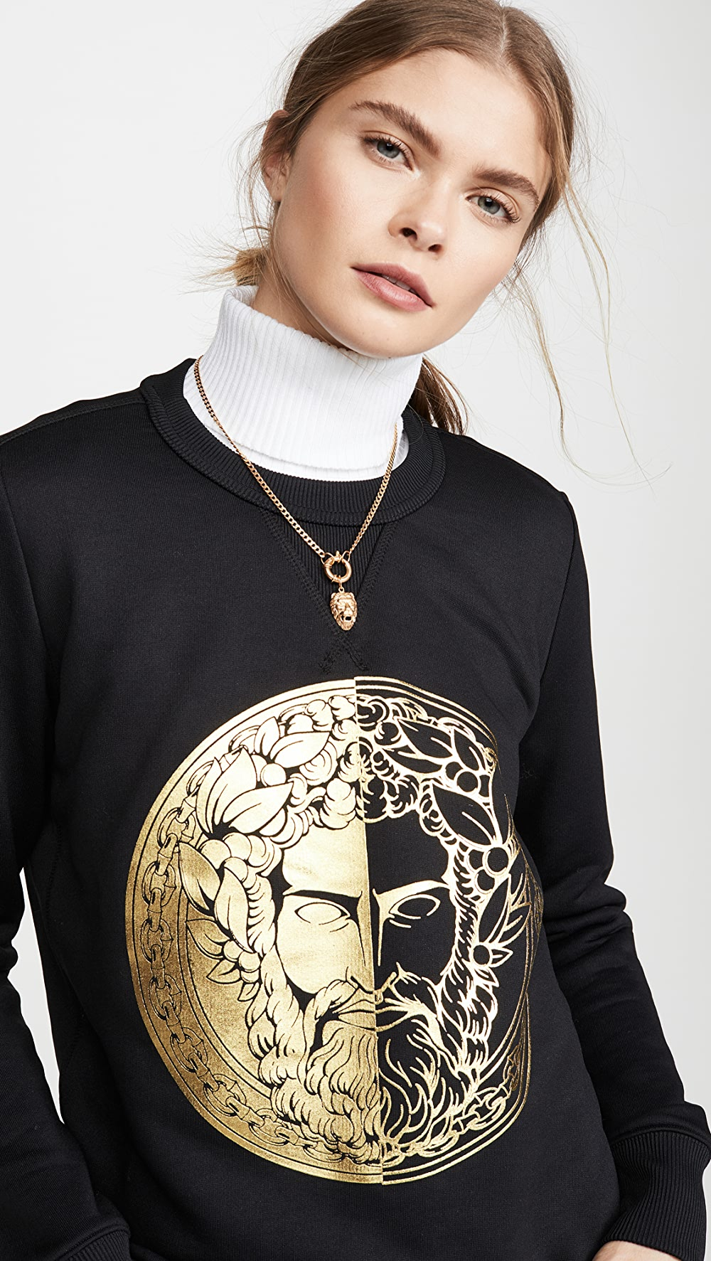 100% Quality Versace Jeans Couture - Face Sweatshirt Can Be Repeatedly Remolded.