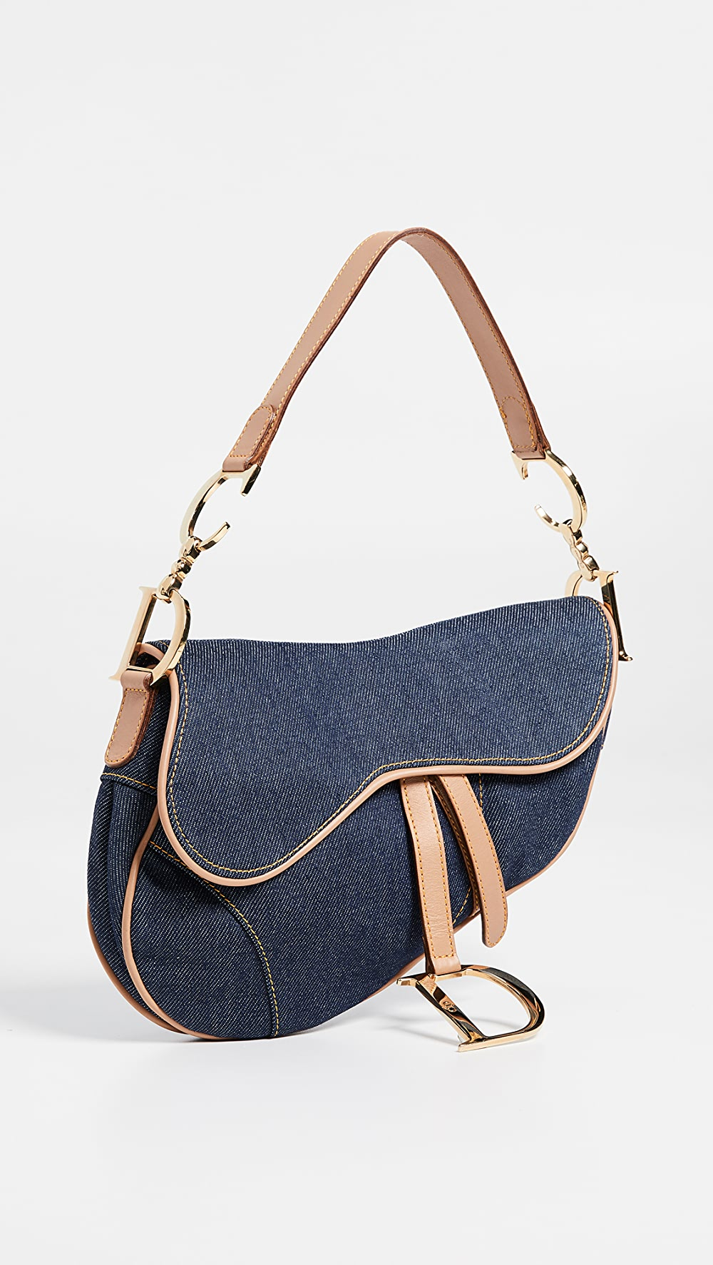 Brave What Goes Around Comes Around - Dior Blue Denim Saddle Bag To Have A Long Historical Standing