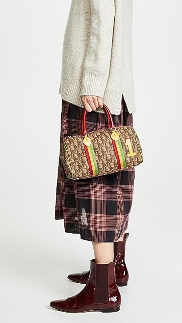 Dior Brown Rasta 波士顿包展示图