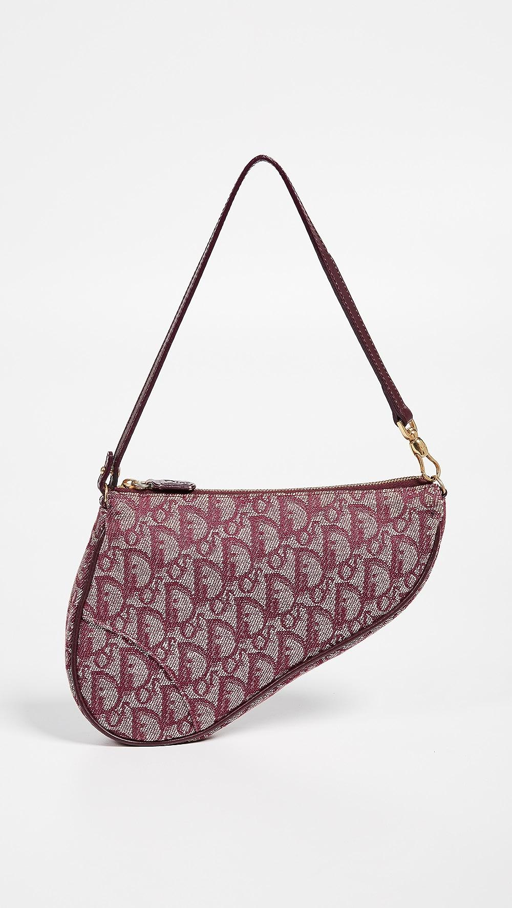 Rapture What Goes Around Comes Around - Dior Burgundy Canvas Saddle Mini Bag High Quality Goods