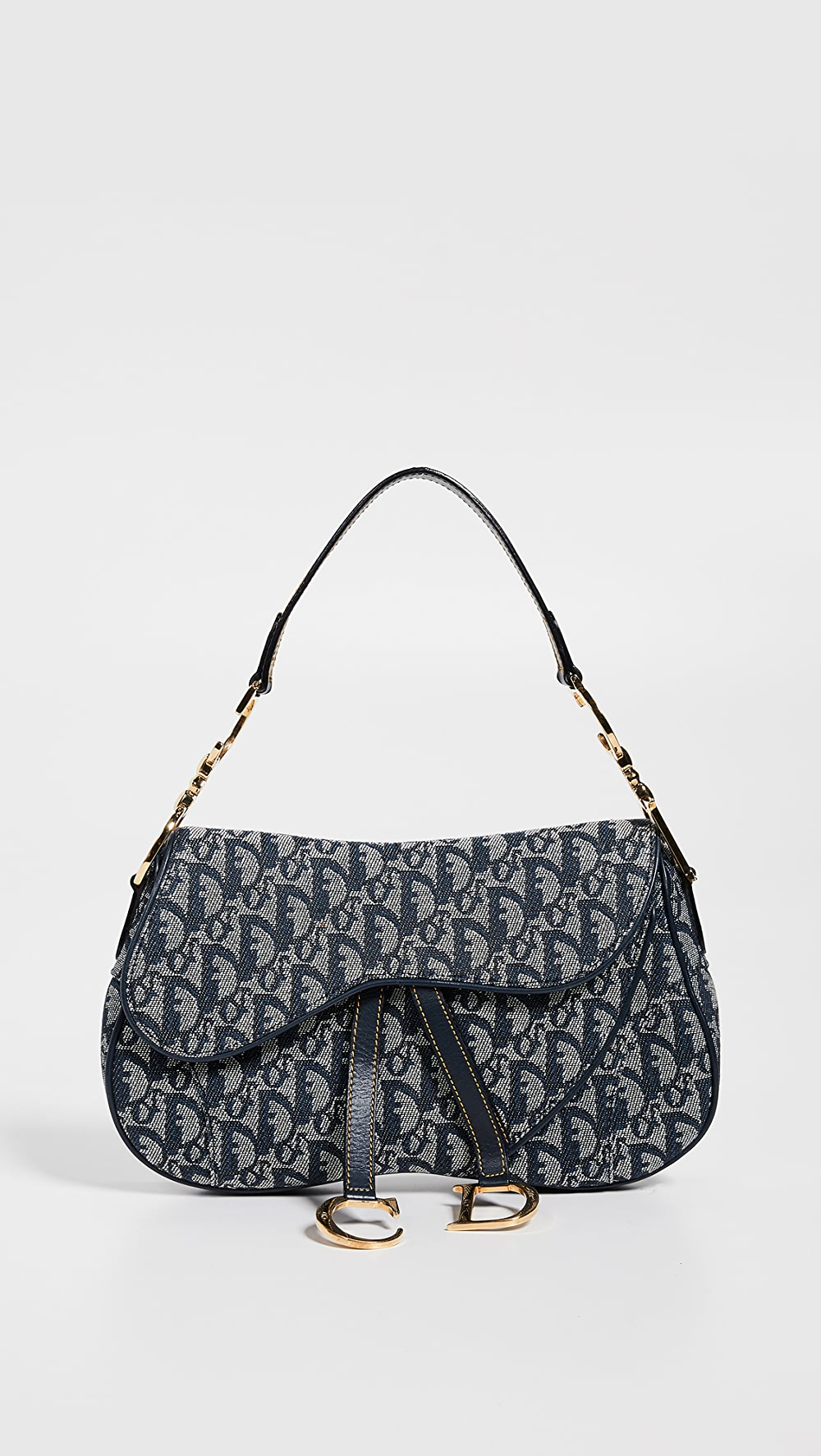 Intelligent What Goes Around Comes Around - Dior Canvas Double Saddle Bag Fashionable Patterns