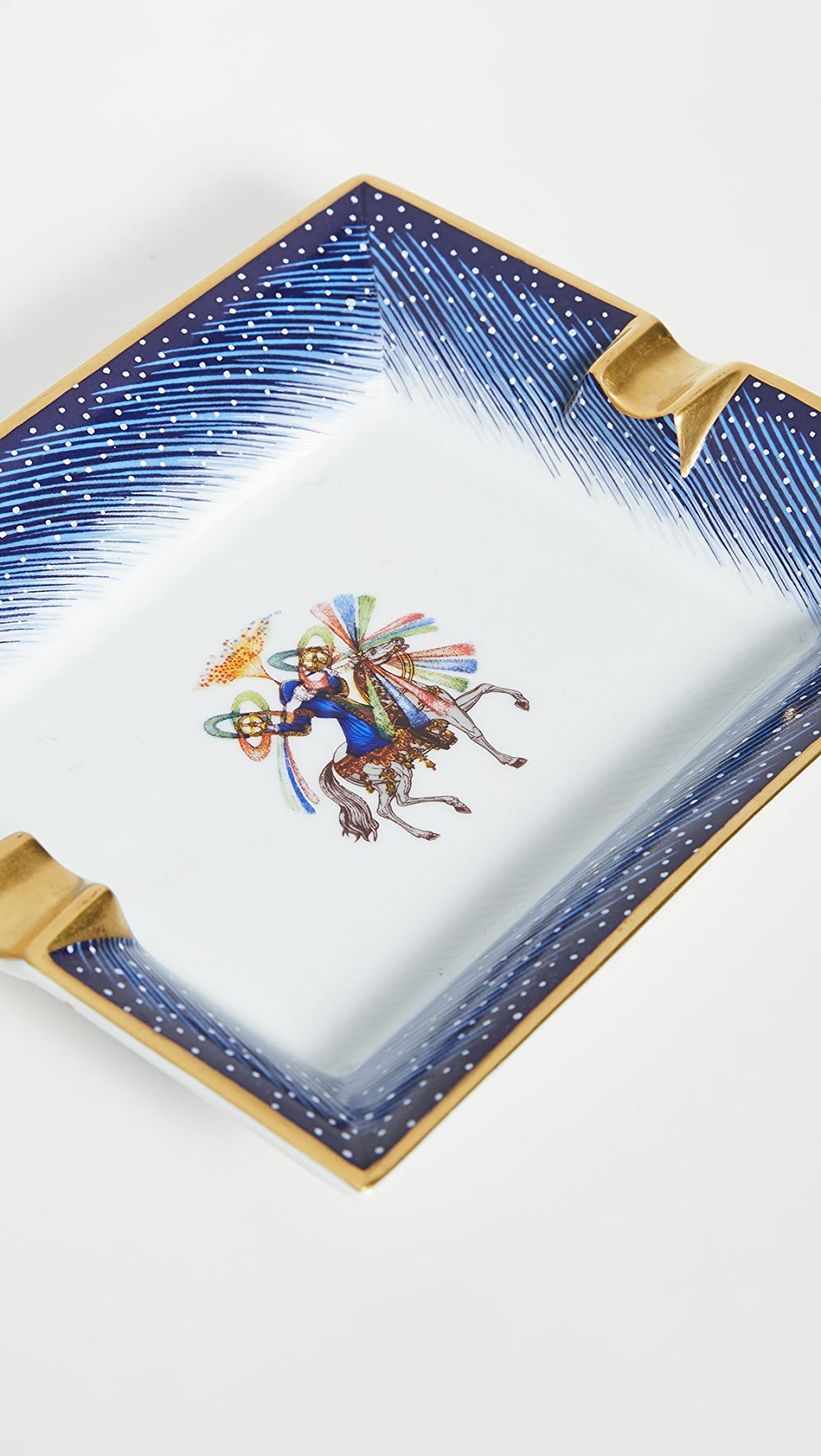 Amicable What Goes Around Comes Around - Hermes Blue Porcelain Ashtray Mild And Mellow