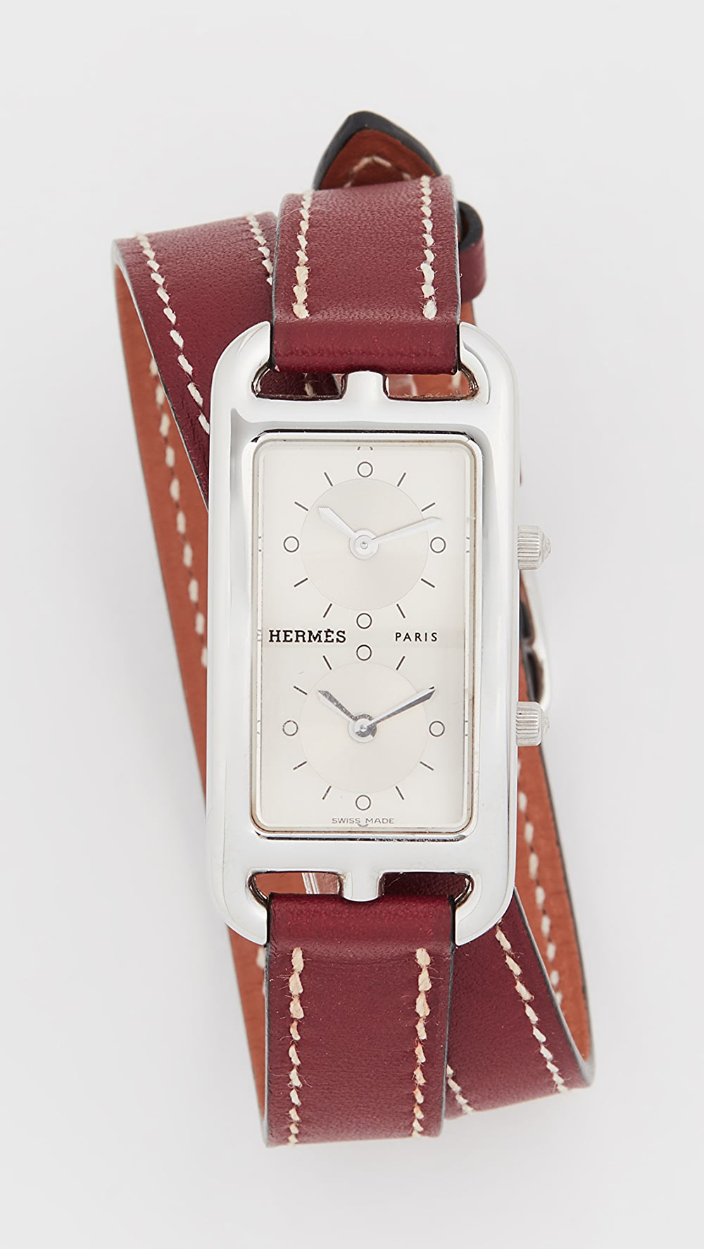 Analytical What Goes Around Comes Around - Hermes Brown Cape Cod Double Watch Soft And Antislippery