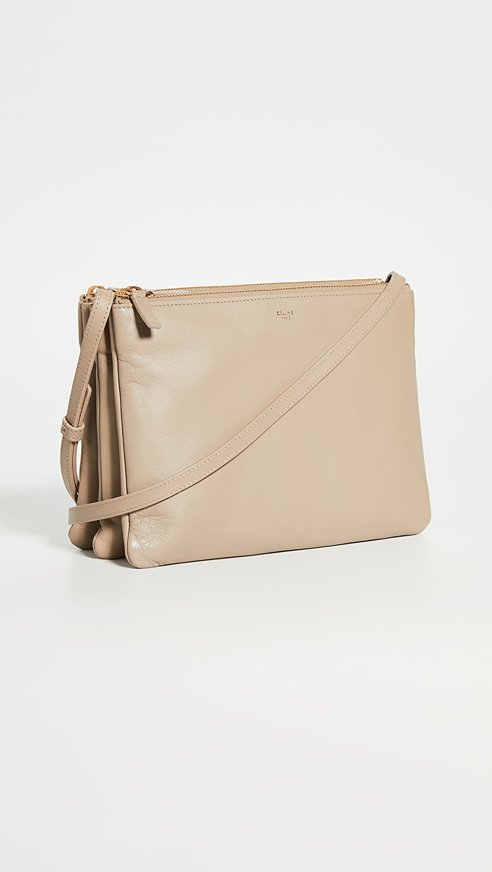 Reliable What Goes Around Comes Around - Celine Beige Trio Small Bag Yet Not Vulgar