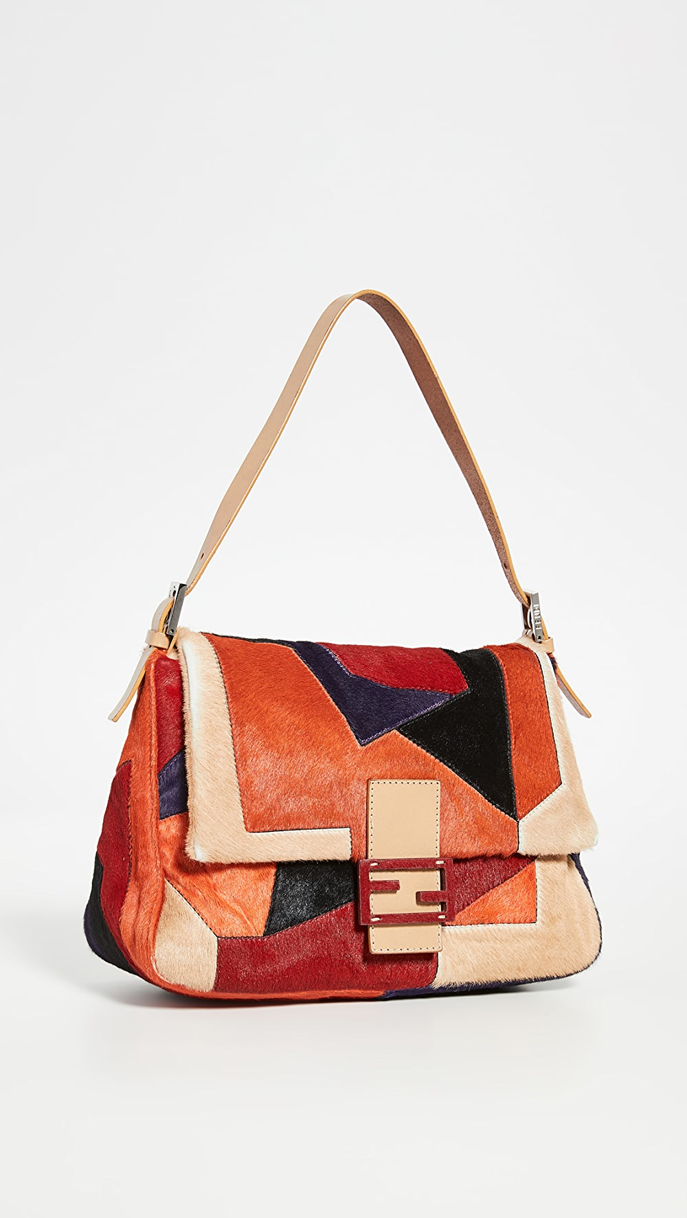 Hospitable What Goes Around Comes Around - Fendi Multi Pony Hair Mama Bag Wide Selection;
