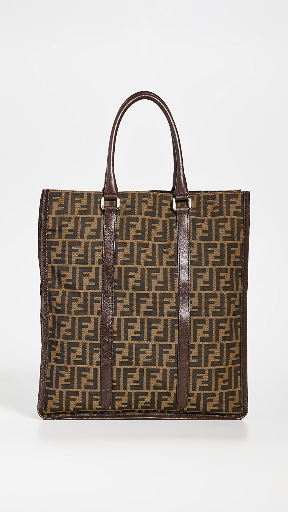 Adaptable What Goes Around Comes Around - Fendi Brown Zucca Tote Bag Consumers First
