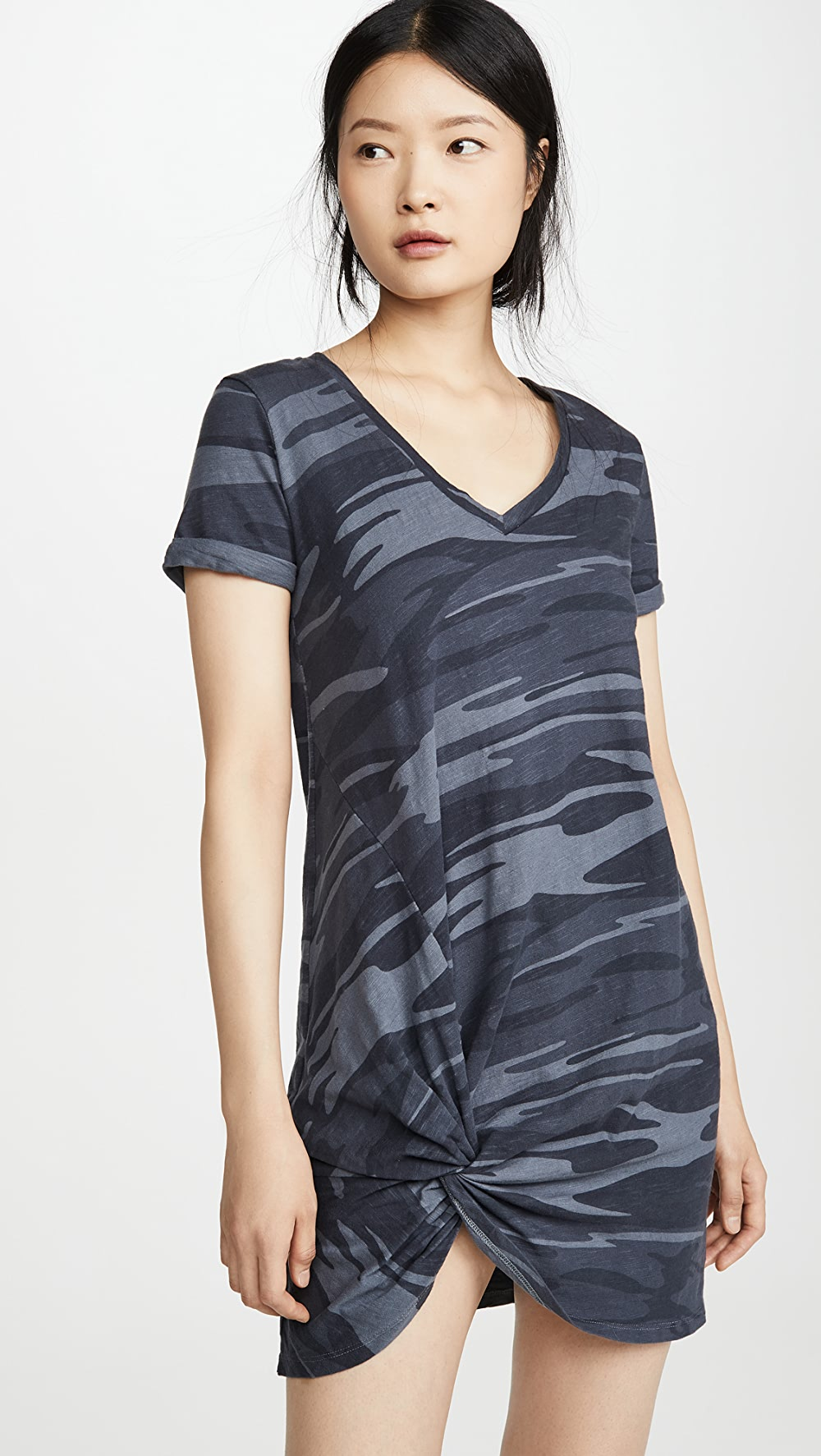 Constructive Z Supply - Side Knot Camo Dress Good For Energy And The Spleen