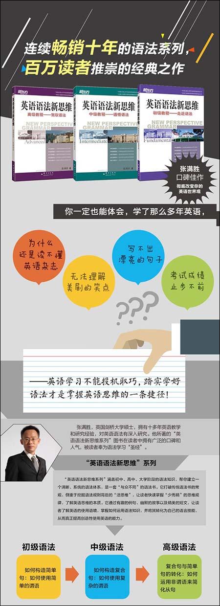 《新东方·英语语法新思维:初级教程+中级教程+高级教程(套装共3册)》张满胜 epub+mobi+azw3下载