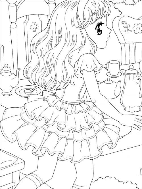 《美少女填色:爱丽丝公主漫游记(狂欢版)(附贴纸100张